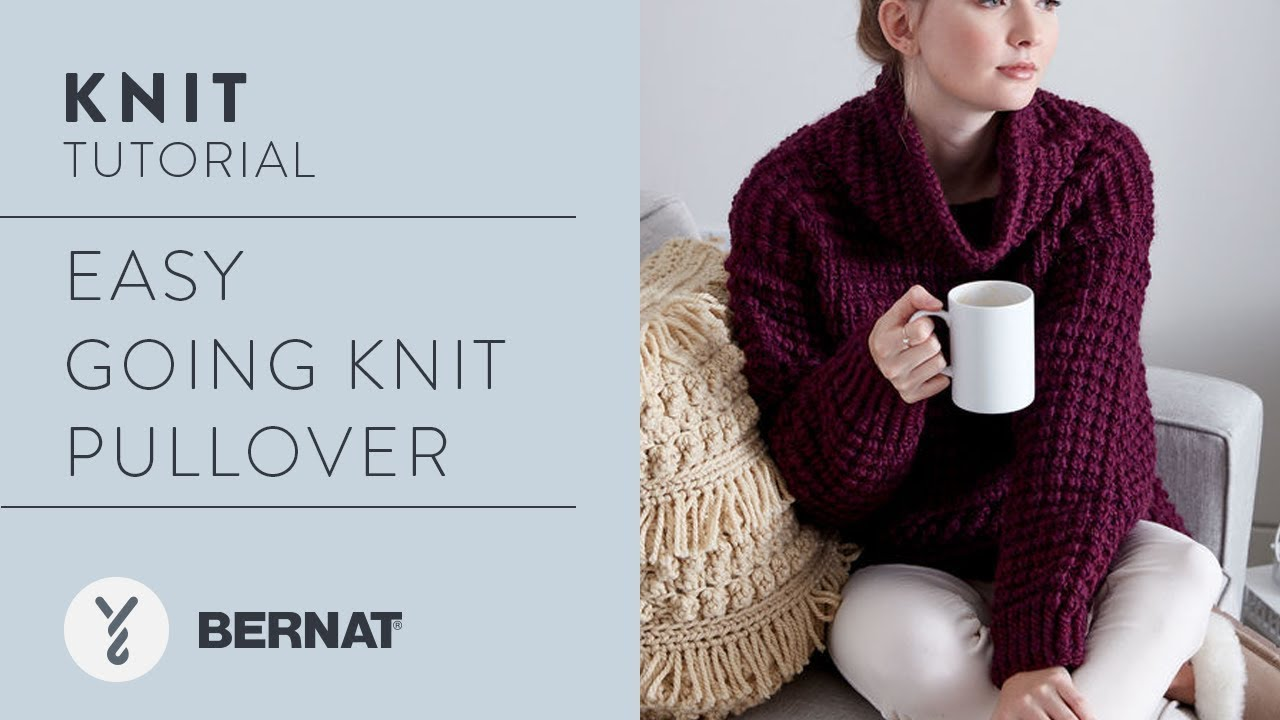 260e07266 Knit Easy Going Knit Pullover in Bernat Roving by Kristen Mangus ...