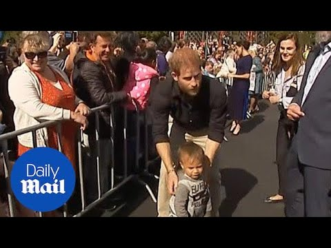 Prince Harry helps lost child find way back to it's parents!
