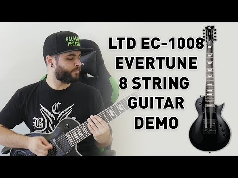 This 8 String Guitar Never Goes Out Of Tune! LTD EC-1008 Evertune Demo & Review