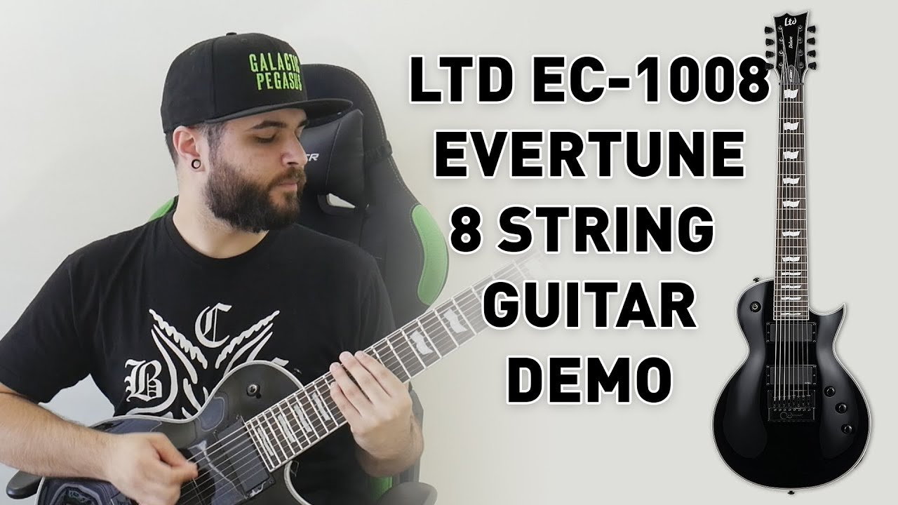 this 8 string guitar never goes out of tune ltd ec 1008 evertune demo review youtube. Black Bedroom Furniture Sets. Home Design Ideas