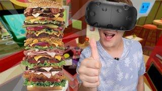 O MAIOR LANCHE EM REALIDADE VIRTUAL! Job Simulator HTC VIVE
