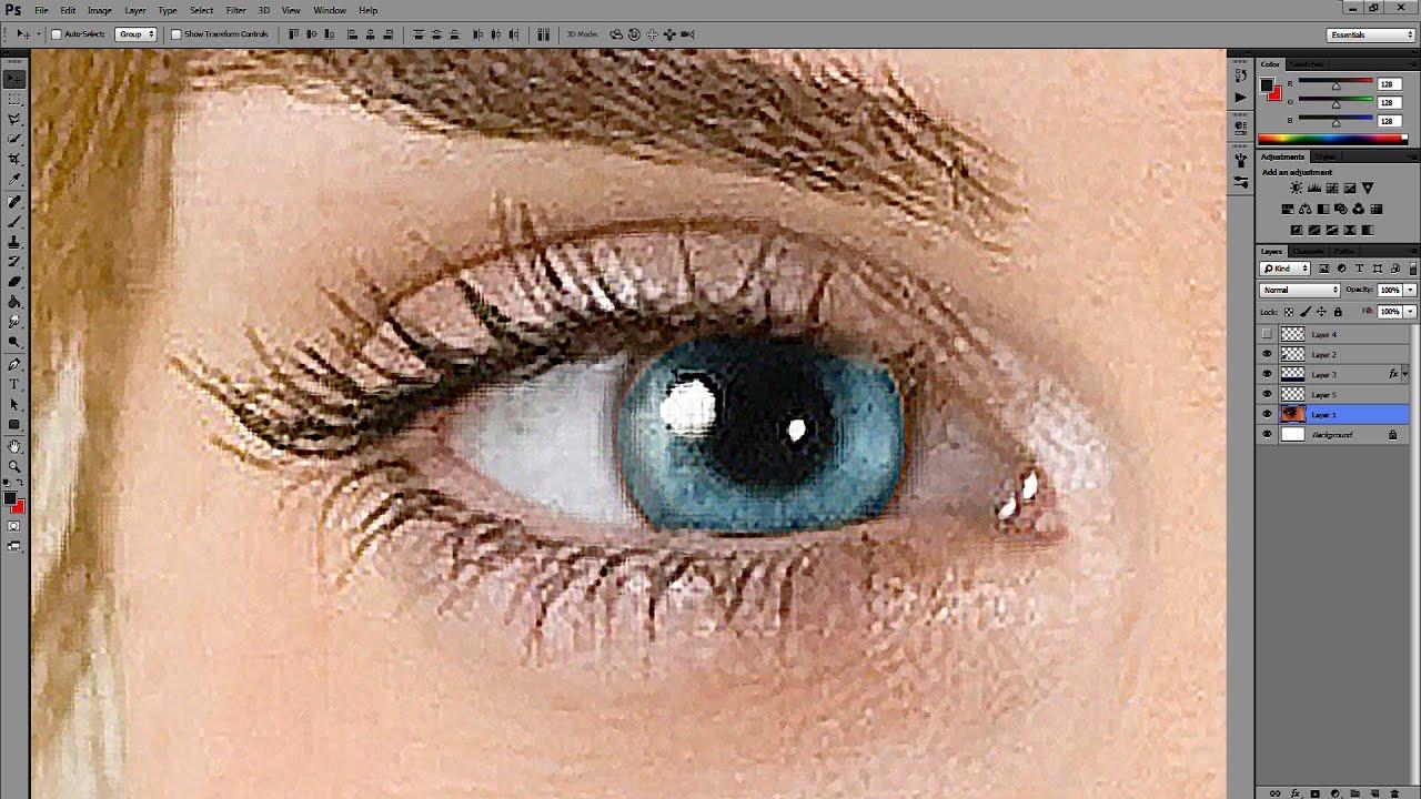 თვალის ფერის შეცვლა და მისი დეტალიზაცია – How to correct eye details and how to change eye color