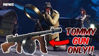 Fortnite Battle Royale - *NEW GUN* *DRUM GUN ONLY CHALLENGE!! * (Except One!) - NEW DETECTIVE SKIN!!