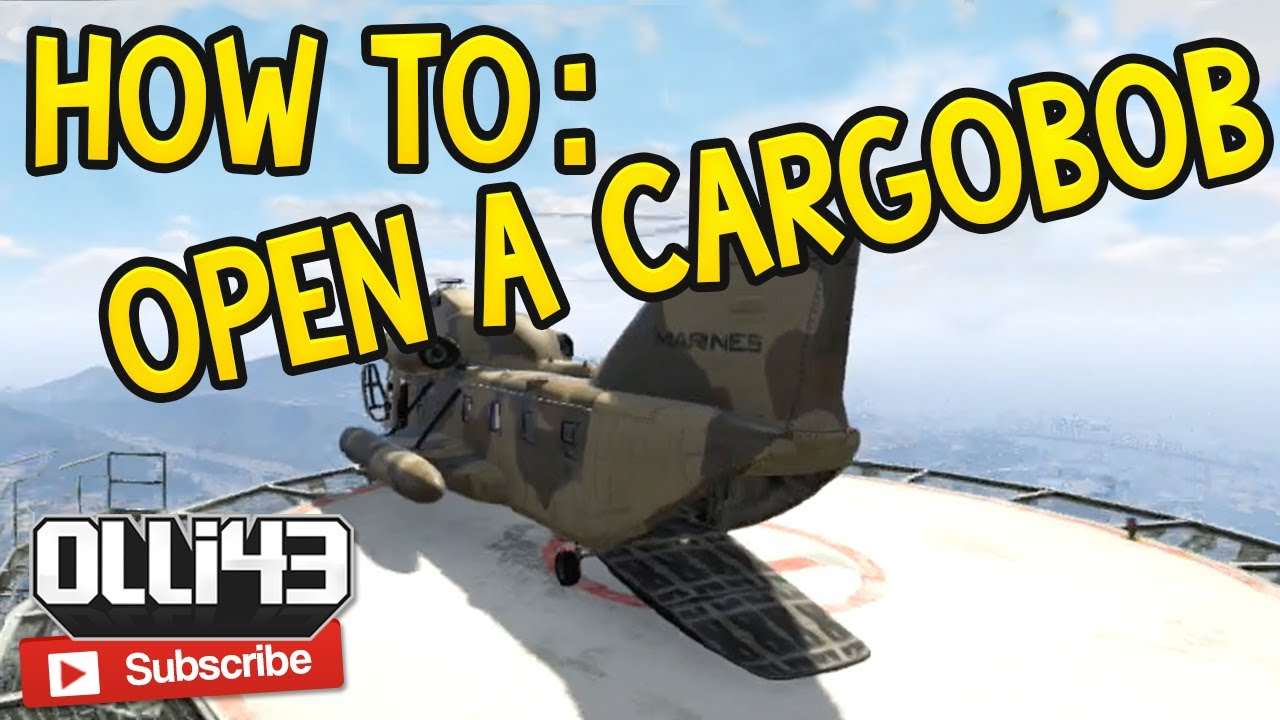how to open the cargobob and titan gta 5 online glitch. Black Bedroom Furniture Sets. Home Design Ideas