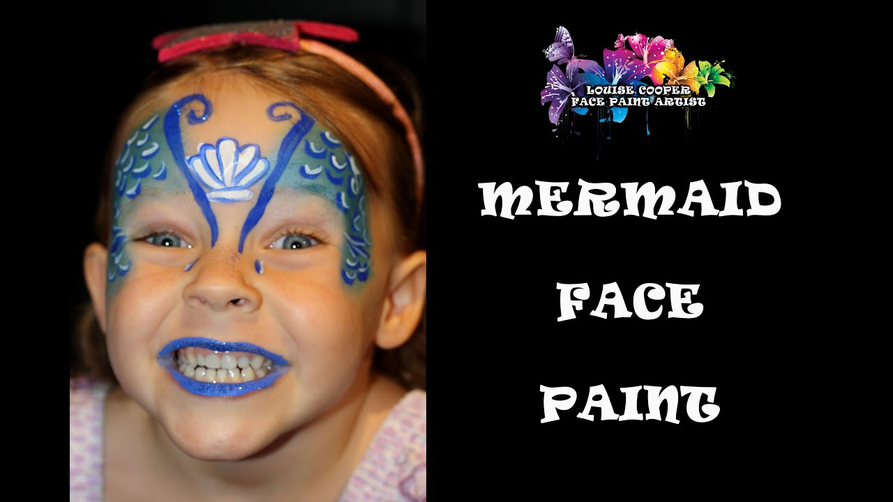 Easy Mermaid Face Painting YouTube - Simple face painting