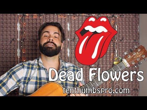 Dead Flowers - The Rolling Stones - Easy Beginner Guitar Tutorial