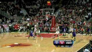 Sacramento Kings Amazing 35 point Comeback vs Bulls (December 21, 2009)