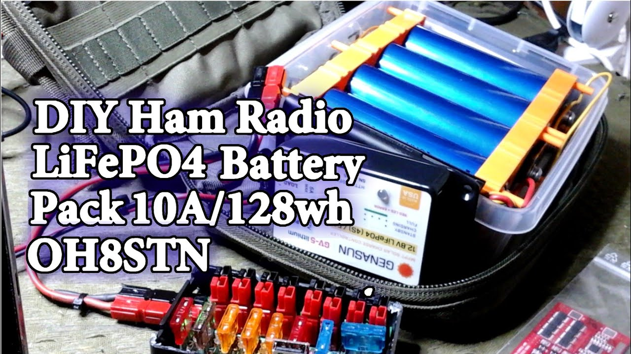 Lithium Battery Pack >> DIY LiFePO4 Battery Pack Headway 38120 Ham Radio QRP+128wh ...