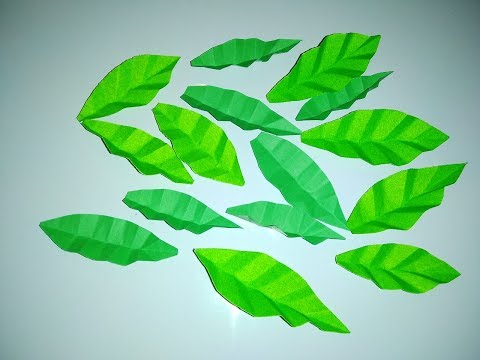 how to make very easy and simple paper leaf  paper leaf paper leaf diy