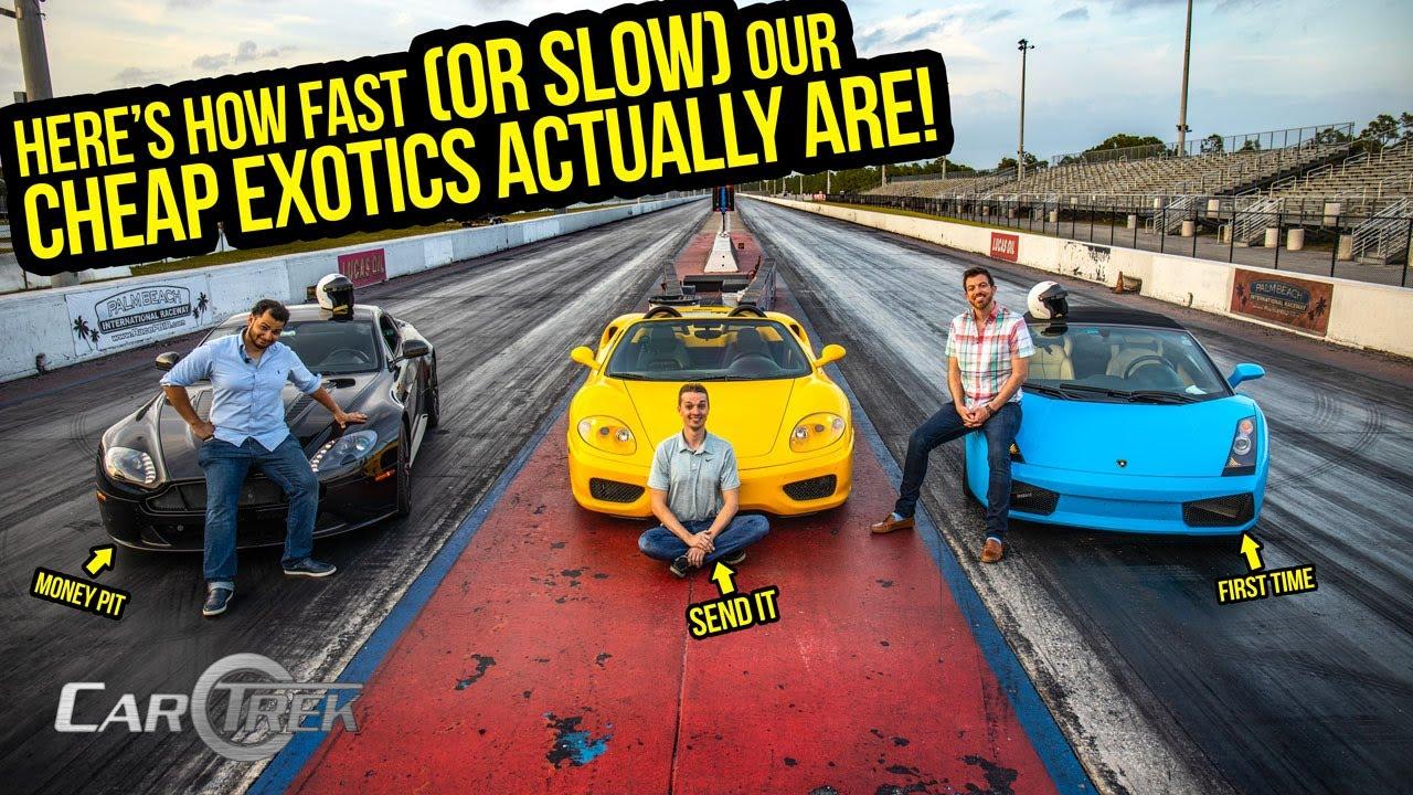 Esto es lo rápido (o lento) que nuestros autos exóticos baratos son REALMENTE + vídeo