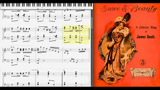 Grace and Beauty by James Scott (1909, Ragtime piano)