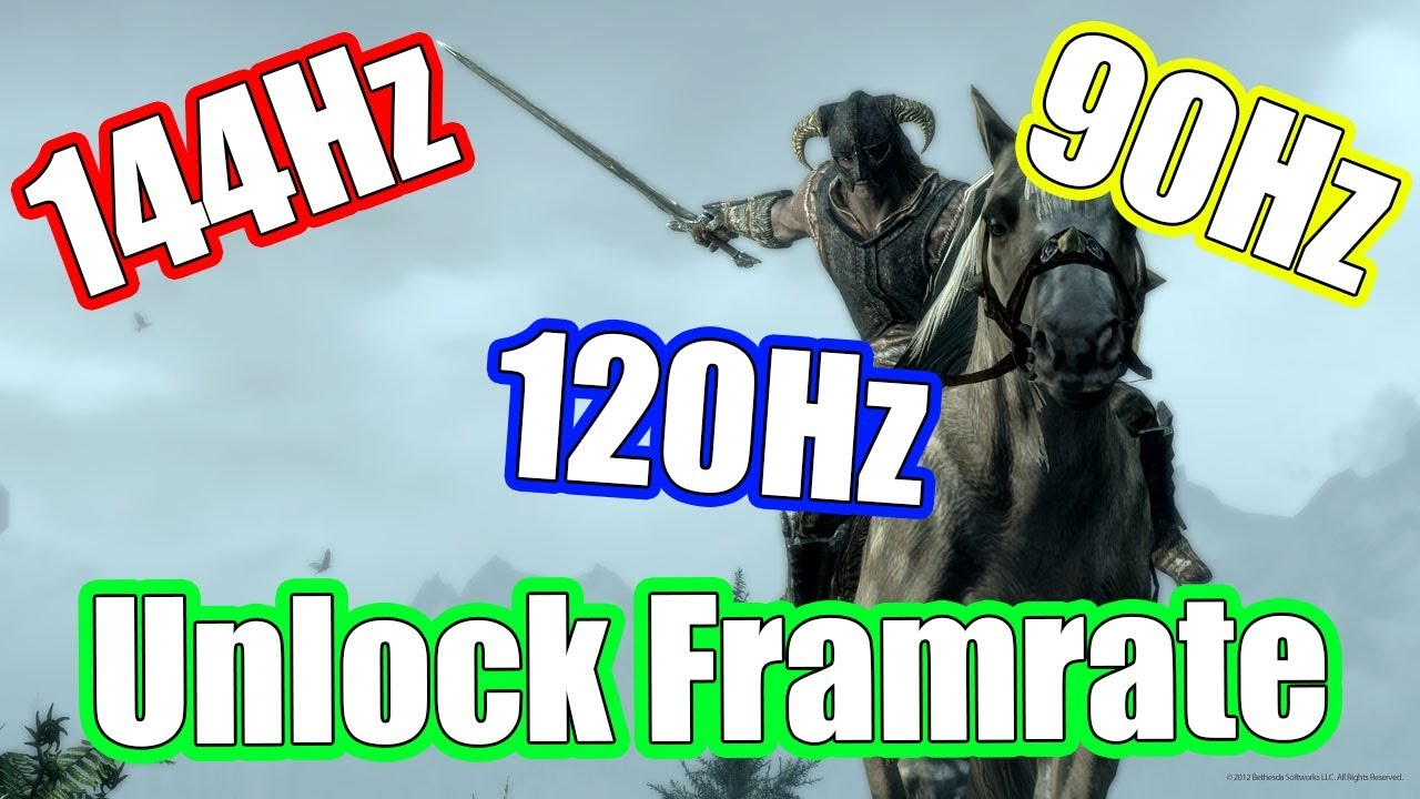 Skyrim Special Edition Unlock Frames || Fix Physics || Lock FPS