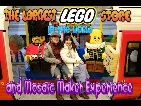LEGO MOZAIC MAKER at Leicester Square, London - Travel Vlog Myfunfoodiary