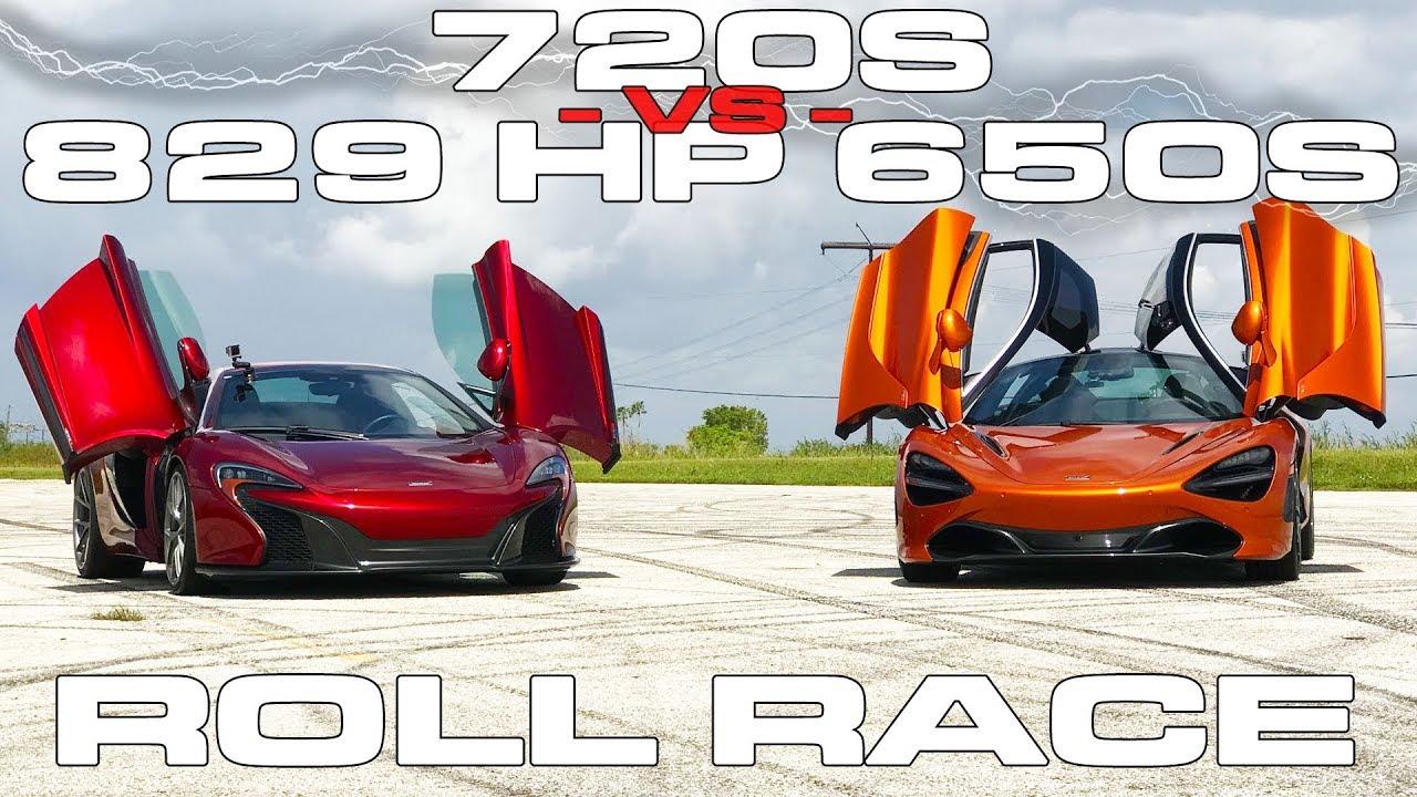 McLaren 720S vs 829HP McLaren 650S EVT825 Roll Races