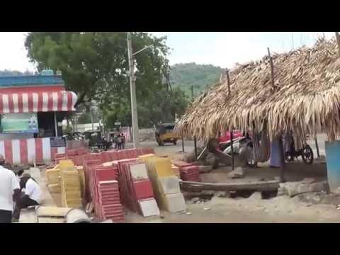 Vijayawada-Krishna Pushkaras/NH-9 Road Widening works Scenario at Barriage Area as on 24.06.2016