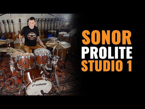 Sonor ProLite Studio 1 Drum Kit Nussbaum Red & Paiste Cymbals