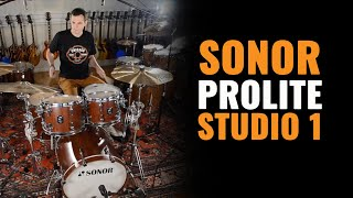 Sonor ProLite Studio 1 Drum Kit Nussbaum Red & Paiste Cymbals