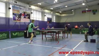 Travin-Kotov.Russian Youth Table Tennis Championship 2015,semifinale. FHD