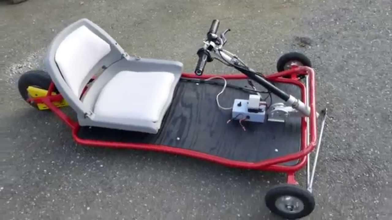 Home made go kart youtube - How To Make A Ultra Light Awesome Electric Go Kart 24v