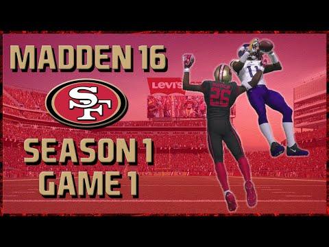 Madden 16 Franchise: San Francisco 49ers | Year 1, Game 1 vs Vikings