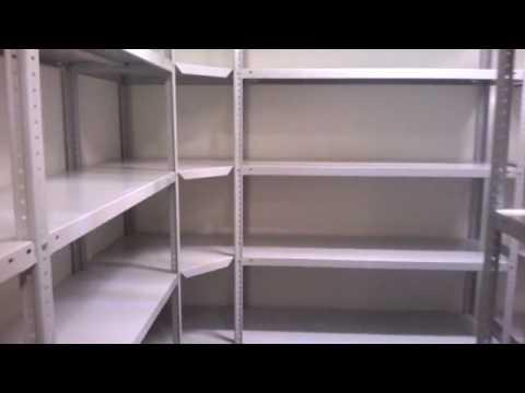 Стеллажи для гаража на болтовом соединении