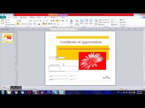 how to create award certificates on microsoft office