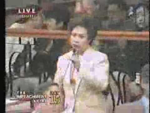 Impeachment Trial of President Joseph Estrada: Sen. Defensor-Santiago gets 'mad'