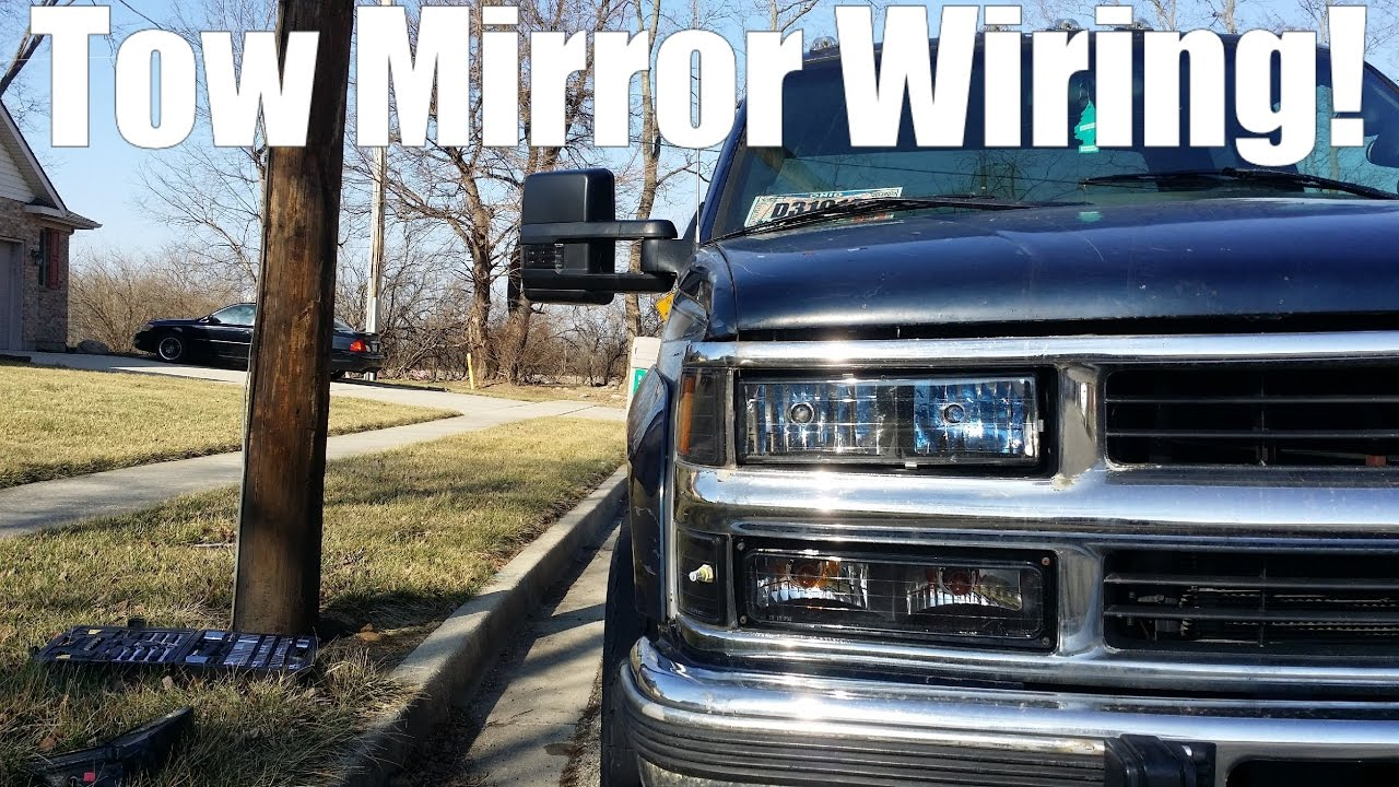 tow mirror wiring 88 98 obs chevy gmc youtube rh youtube com obs chevy power mirror wiring OBS Chevy Lowered