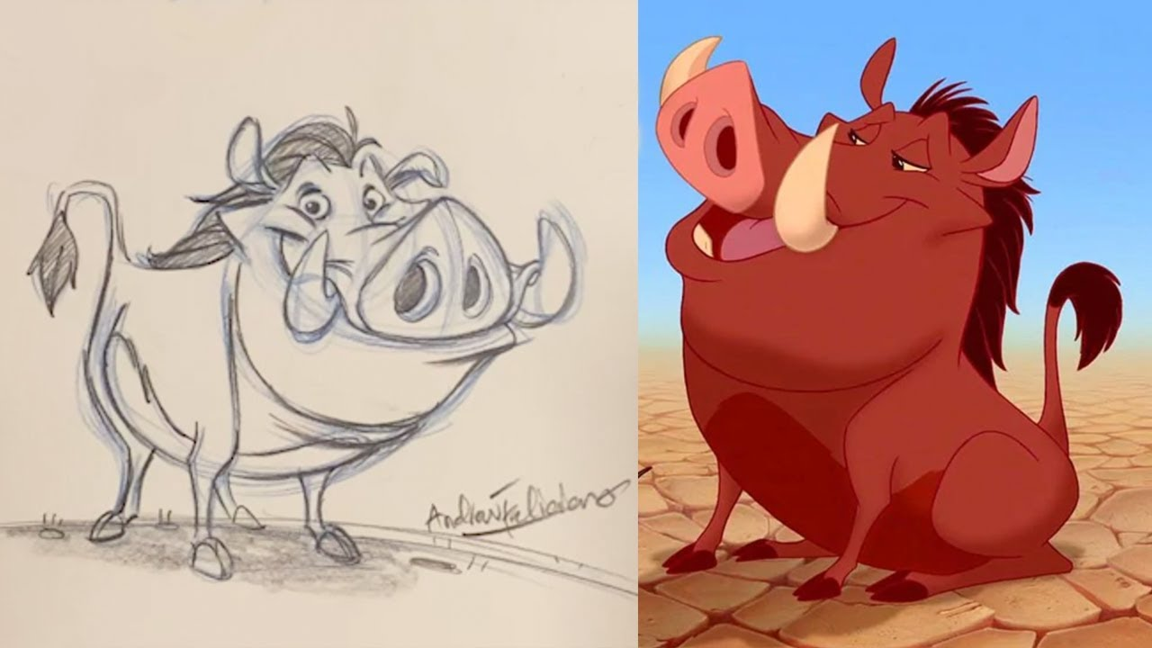 How To Draw Pumbaa from The Lion King l #DrawWithDisneyAnimation