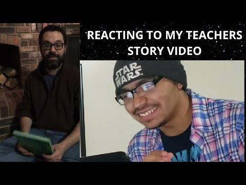 REACTING TO MY TEACHER'S STORY VIDEO | Harlan Christian School