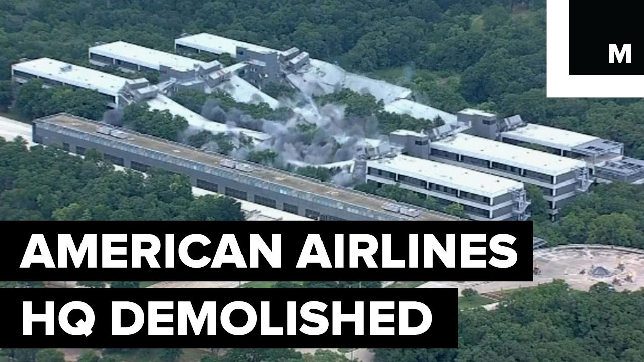 American Airlines Former Headquarters Demolished Youtube