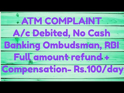 Failed ATM Transaction - Did you know that you are eligible to receive a compensation of Rs.100/day?
