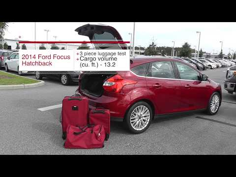 3 Piece Luggage Test 2014 Ford Focus Hatchback Youtube