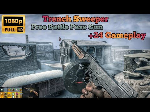 Trench Sweeper +24 ✔ Testing against +24 Support - Mg42/Remi/SKS - World War Heroes