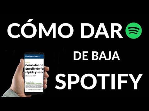 ¿Cómo Darse de Baja en Spotify? Fácil y Rápido