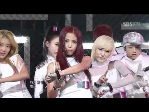 Co-Ed School - Too Late (남녀공학 - Too Late) @ SBS Inkigayo 인기가요 101003