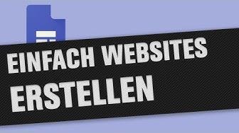 Website erstellen kostenlos mit Google Sites (Tutorial)