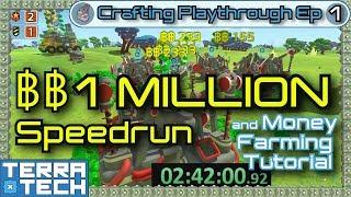 1 MILLION ฿฿ speedrun & Erudite money farm guide [TerraTech 0.7.9] Crafting Playthrough Ep1