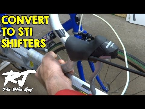 How To Convert From Downtube Shifters To STI Shifters (Brifters) On Vintage Bike