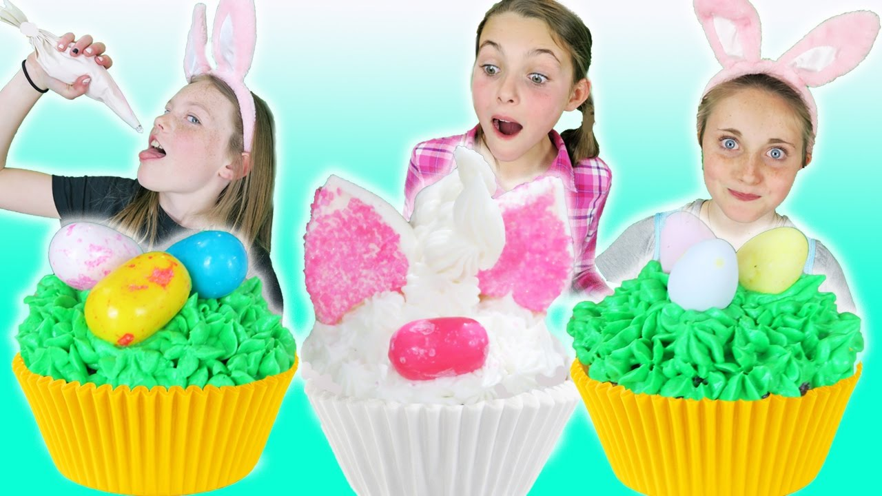 Bubble Gum And Chocolate Candy Easter Cupcakes Kids Cooking And