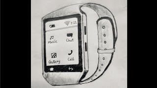 How to draw smart watch