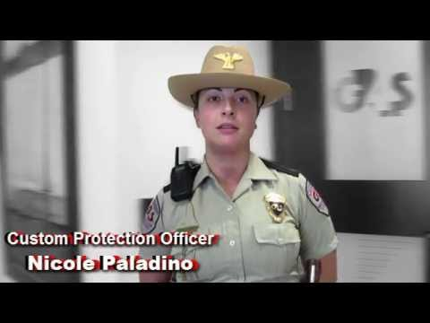 A day in the life of a Custom Protection Officer - Nicole P. - YouTube