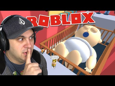DON'T WAKE UP THE GIANT SLEEPING BABY!   Roblox