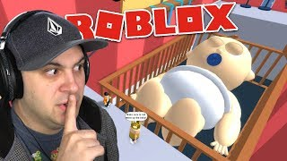 DON'T WAKE UP THE GIANT SLEEPING BABY! | Roblox