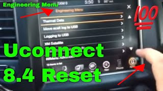 UConnect Reset & Hidden Menu - Easy Fix for 8.4