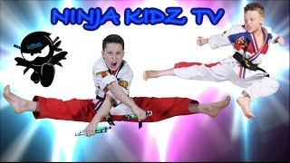 Ninja Kidz ULTIMATE Black Belt Test! Awesome Karate!