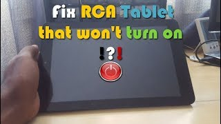 Fix RCA Tablet that Won