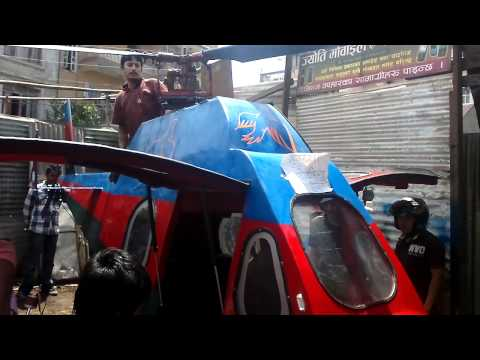 Made in nepal (HELICOPTER) made by BIKE engine