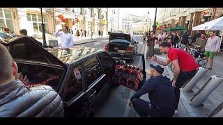 Качаем в Центре Москвы на ВАЗ 2109.День Победы.