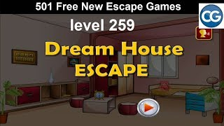 [Walkthrough] 501 Free New Escape Games level 259 - Dream house escape - Complete Game